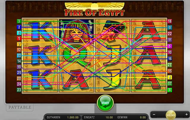 fire of egypt spielen