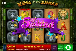 5 of a kind King of the Jungle