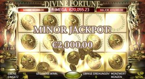 Gewinn Minor Jackpot Divine Fortune