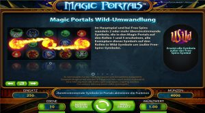 Magic Portals Tabelle