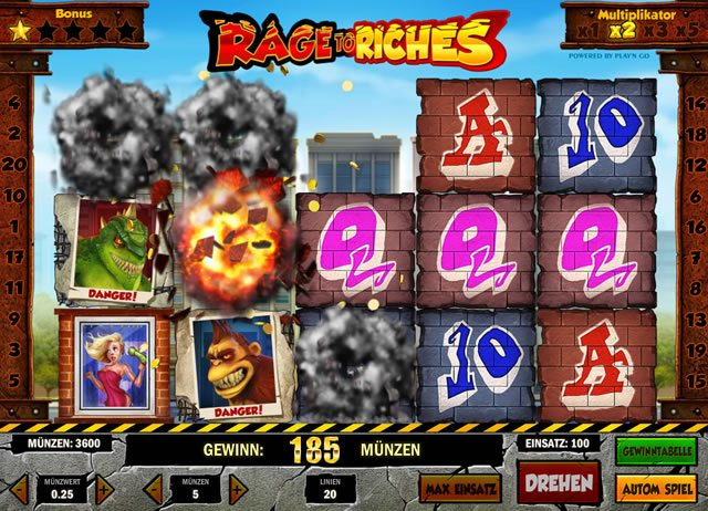 Rage to Riches Gewinn