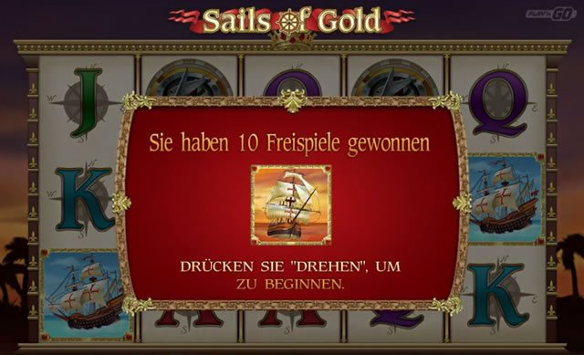 Sails of Gold Freispiele
