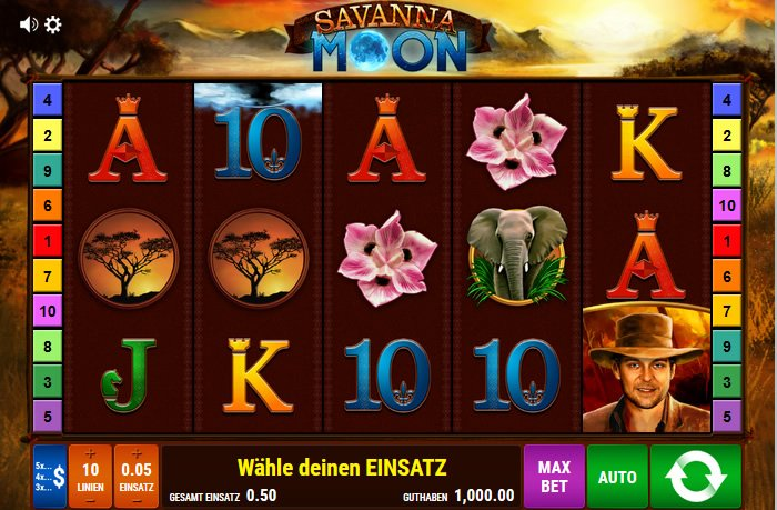 savanna moon spielen