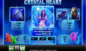 Tabelle Crystal Heart