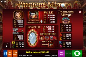 Tabelle Phantoms Mirror