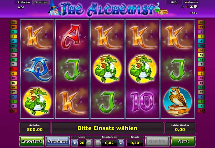 the alchemist spielen